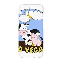 Friends Not Food   Cute Pig And Chicken Samsung Galaxy S8 Hardshell Case  by Valentinaart