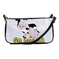 Friends Not Food   Cute Pig And Chicken Shoulder Clutch Bags by Valentinaart