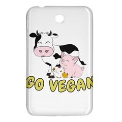 Friends Not Food   Cute Pig And Chicken Samsung Galaxy Tab 3 (7 ) P3200 Hardshell Case  by Valentinaart