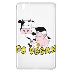Friends Not Food   Cute Pig And Chicken Samsung Galaxy Tab Pro 8 4 Hardshell Case by Valentinaart