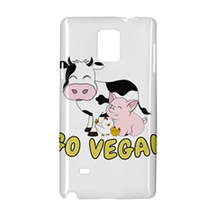 Friends Not Food   Cute Pig And Chicken Samsung Galaxy Note 4 Hardshell Case by Valentinaart