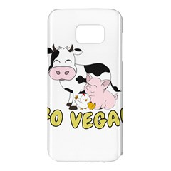 Friends Not Food   Cute Pig And Chicken Samsung Galaxy S7 Edge Hardshell Case