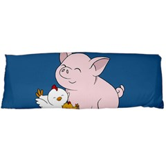 Friends Not Food   Cute Pig And Chicken Body Pillow Case Dakimakura (two Sides) by Valentinaart