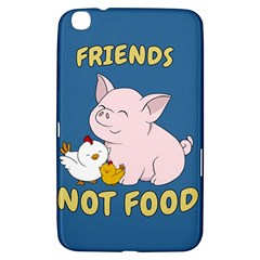 Friends Not Food   Cute Pig And Chicken Samsung Galaxy Tab 3 (8 ) T3100 Hardshell Case  by Valentinaart