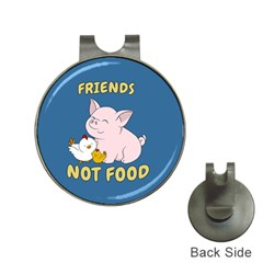 Friends Not Food   Cute Pig And Chicken Hat Clips With Golf Markers by Valentinaart