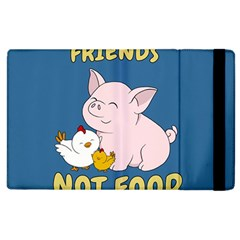 Friends Not Food   Cute Pig And Chicken Apple Ipad 3/4 Flip Case by Valentinaart