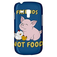 Friends Not Food   Cute Pig And Chicken Galaxy S3 Mini by Valentinaart
