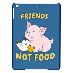 Friends Not Food   Cute Pig And Chicken Ipad Air Hardshell Cases by Valentinaart