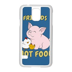 Friends Not Food   Cute Pig And Chicken Samsung Galaxy S5 Case (white) by Valentinaart