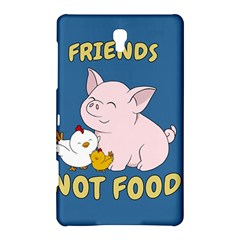 Friends Not Food   Cute Pig And Chicken Samsung Galaxy Tab S (8 4 ) Hardshell Case  by Valentinaart