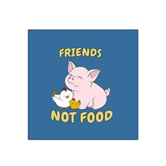 Friends Not Food   Cute Pig And Chicken Satin Bandana Scarf by Valentinaart