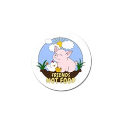 Friends Not Food   Cute Pig And Chicken Golf Ball Marker (4 Pack) by Valentinaart