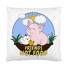 Friends Not Food   Cute Pig And Chicken Standard Cushion Case (two Sides) by Valentinaart