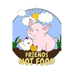 Friends Not Food   Cute Pig And Chicken 5 5  X 8 5  Notebooks by Valentinaart