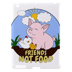 Friends Not Food   Cute Pig And Chicken Apple Ipad 3/4 Hardshell Case (compatible With Smart Cover) by Valentinaart