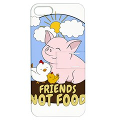 Friends Not Food   Cute Pig And Chicken Apple Iphone 5 Hardshell Case With Stand by Valentinaart