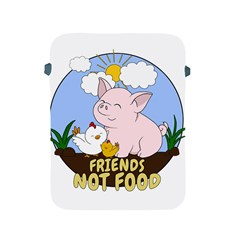 Friends Not Food   Cute Pig And Chicken Apple Ipad 2/3/4 Protective Soft Cases by Valentinaart