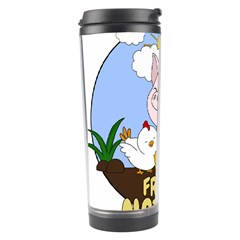 Friends Not Food   Cute Pig And Chicken Travel Tumbler by Valentinaart
