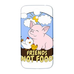 Friends Not Food   Cute Pig And Chicken Samsung Galaxy S4 I9500/i9505  Hardshell Back Case by Valentinaart