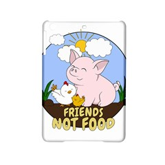 Friends Not Food   Cute Pig And Chicken Ipad Mini 2 Hardshell Cases by Valentinaart