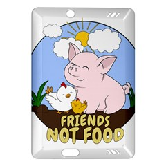 Friends Not Food   Cute Pig And Chicken Amazon Kindle Fire Hd (2013) Hardshell Case by Valentinaart