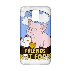 Friends Not Food   Cute Pig And Chicken Samsung Galaxy S5 Hardshell Case  by Valentinaart