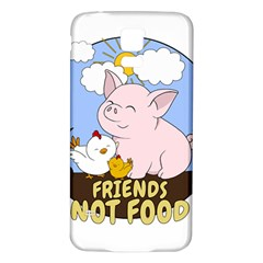 Friends Not Food   Cute Pig And Chicken Samsung Galaxy S5 Back Case (white) by Valentinaart