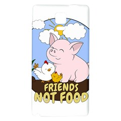 Friends Not Food   Cute Pig And Chicken Galaxy Note 4 Back Case by Valentinaart