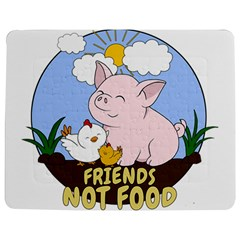 Friends Not Food   Cute Pig And Chicken Jigsaw Puzzle Photo Stand (rectangular) by Valentinaart