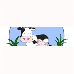 Friends Not Food   Cute Cow, Pig And Chicken Large Bar Mats by Valentinaart