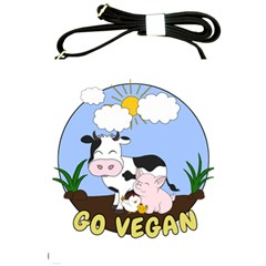 Friends Not Food   Cute Cow, Pig And Chicken Shoulder Sling Bags by Valentinaart