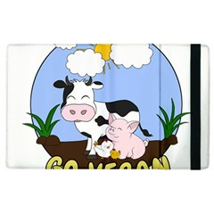 Friends Not Food   Cute Cow, Pig And Chicken Apple Ipad 3/4 Flip Case by Valentinaart