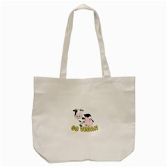 Friends Not Food   Cute Cow, Pig And Chicken Tote Bag (cream) by Valentinaart