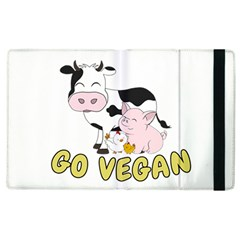 Friends Not Food   Cute Cow, Pig And Chicken Apple Ipad 2 Flip Case by Valentinaart
