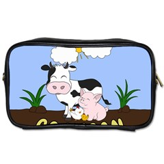 Friends Not Food   Cute Cow, Pig And Chicken Toiletries Bags 2 Side by Valentinaart