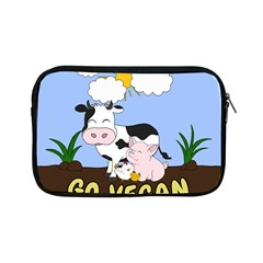 Friends Not Food   Cute Cow, Pig And Chicken Apple Ipad Mini Zipper Cases by Valentinaart