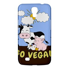 Friends Not Food   Cute Cow, Pig And Chicken Samsung Galaxy Mega 6 3  I9200 Hardshell Case by Valentinaart