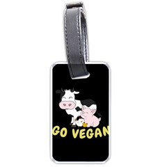 Friends Not Food   Cute Cow, Pig And Chicken Luggage Tags (two Sides) by Valentinaart