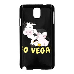 Friends Not Food   Cute Cow, Pig And Chicken Samsung Galaxy Note 3 Neo Hardshell Case (black) by Valentinaart