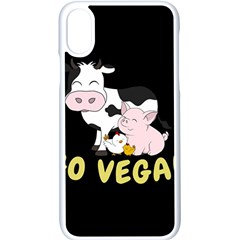 Friends Not Food   Cute Cow, Pig And Chicken Apple Iphone X Seamless Case (white) by Valentinaart