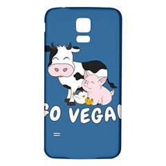 Friends Not Food   Cute Cow, Pig And Chicken Samsung Galaxy S5 Back Case (white) by Valentinaart