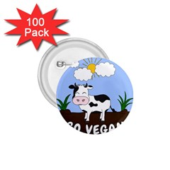 Friends Not Food   Cute Cow 1 75  Buttons (100 Pack)  by Valentinaart