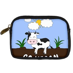 Friends Not Food   Cute Cow Digital Camera Cases by Valentinaart