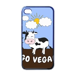 Friends Not Food   Cute Cow Apple Iphone 4 Case (black) by Valentinaart