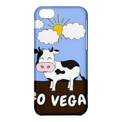 Friends Not Food   Cute Cow Apple Iphone 5c Hardshell Case by Valentinaart