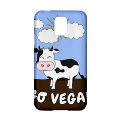Friends Not Food   Cute Cow Samsung Galaxy S5 Hardshell Case  by Valentinaart