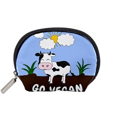 Friends Not Food   Cute Cow Accessory Pouches (small)  by Valentinaart