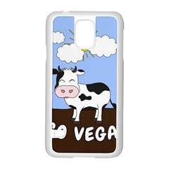 Friends Not Food   Cute Cow Samsung Galaxy S5 Case (white) by Valentinaart