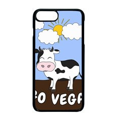 Friends Not Food   Cute Cow Apple Iphone 7 Plus Seamless Case (black) by Valentinaart