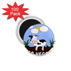 Friends Not Food   Cute Cow 1 75  Magnets (100 Pack)  by Valentinaart